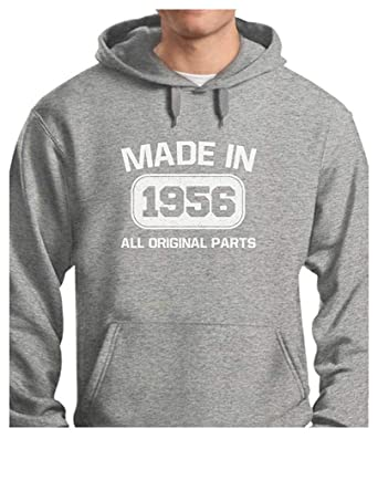 Amazon 61st Birthday Gift Idea Made In 1956 Mens Hoodie Clothing