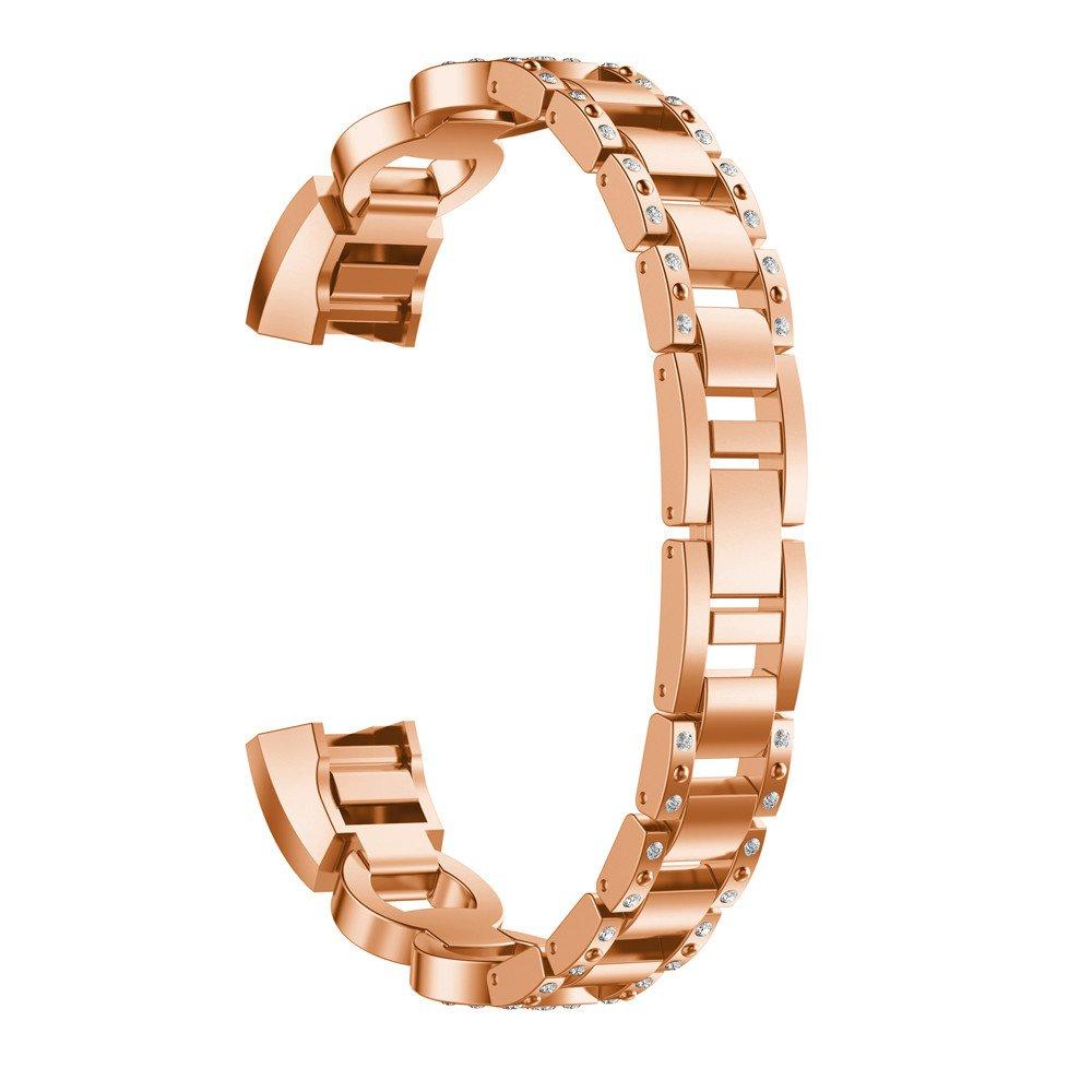 TianranRT - Correa para reloj de pulsera de acero con diseño de rayas y cristales para Fitbit Alta HR/Fitbit Alta: Amazon.es: Bricolaje y herramientas