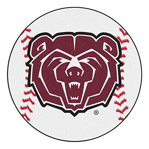- NCAA Missouri State Bears Baseball Shaped Mat Round Area Rug