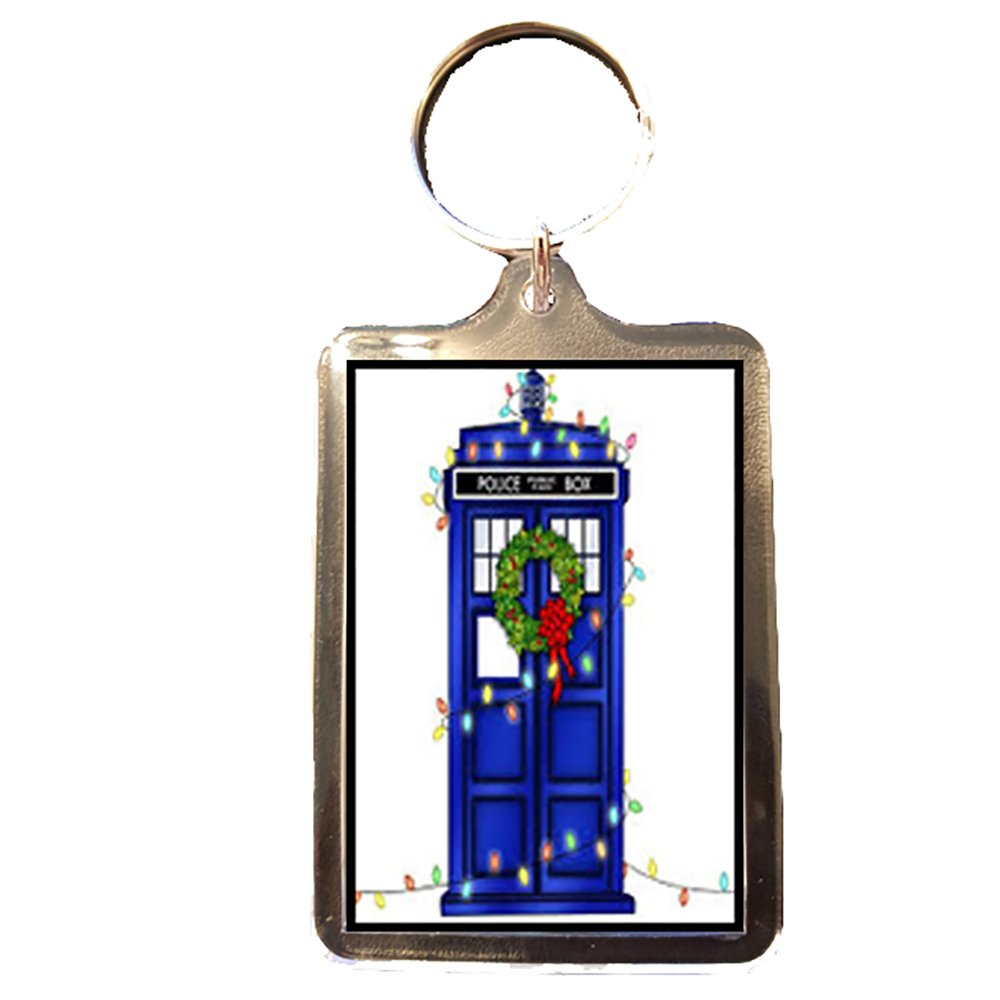Doctor Who - Novelty Christmas Keyring (Christmas Tardis) Footie Gifts