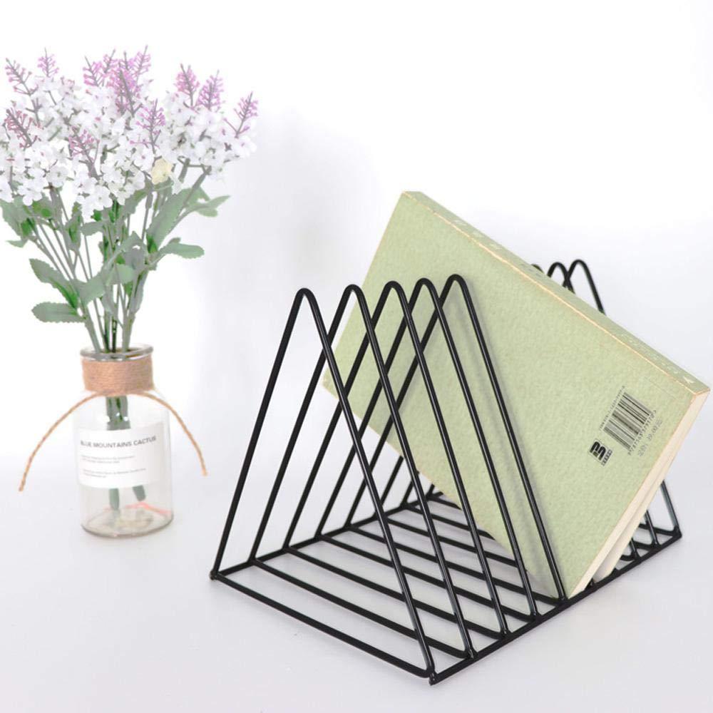 Desk file organizer Pawaca Magazine file Holder desktop file Sorter organizer,7/slot a forma di triangolo Nero triangolo portariviste rack titolari