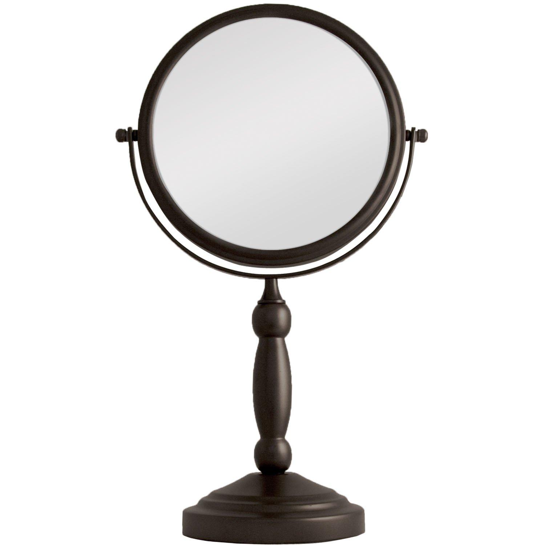 Zadro 10x Mag 2-Sided Swivel Vanity Mirror, 8-Inch, Oil-Rubbed Bronze Finish