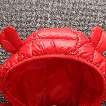 PinkLu Abrigo Invierno para Bebe Niña Niño Clásico Color sólido Chaquetas con Capucha con Caricatura Orejas Invierno Mantener Caliente Manga Larga Zipper Abrigo de Algodón: Amazon.es: Ropa y accesorios