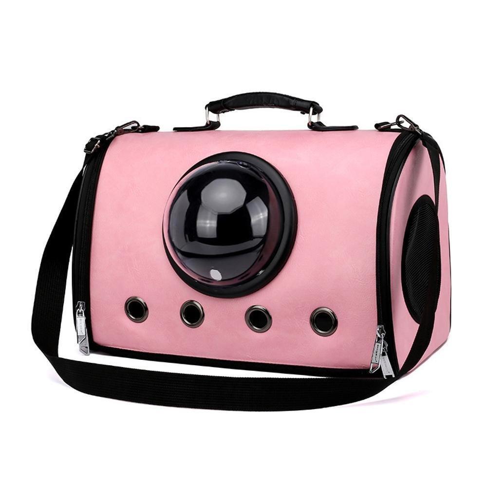 prendi l'ultimo Daeou Zaino per animali domestici Spazio di zaino valigia valigia valigia gatto portatile borsa borsa traspirante in pelle pack croce obliqua PC 43  25  29 cm  sconti e altro