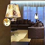 European style modern fabric with a swing arm Wall lamp