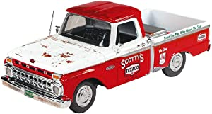1966 Ford F-100 Pickup Truck Texaco Red and White (Unrestored) 13th in The U.S.A. Series 1/25 Diecast Model Car by Autoworld CP7637