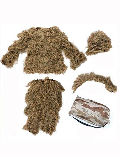 Amazon.com : Ghillie Suit Adult Outdoor Camouflage 3D Jungle ...