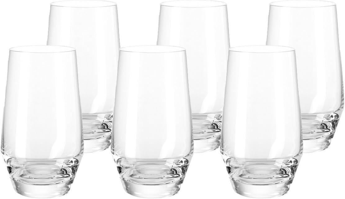 Leonardo Trinkglas PUCCINI Trinkgefäß Wasserglas Kristallglas Dunkelgrau 300 ml
