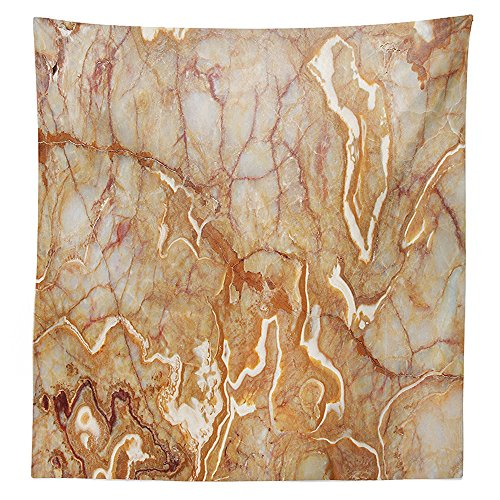 Carnival Onyx (Apartment Decor Tablecloth Different Version of Onyx Textured Marble Background with Curved Veins Image Dining Room Kitchen Rectangular Table Cover Orange)