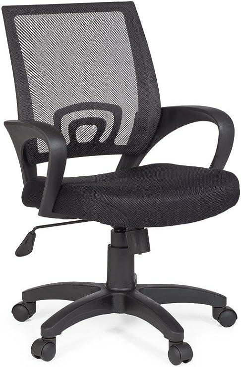 Amstyle Design Bürostuhl Rivoli Schreibtischstuhl Stoff Drehstuhl, mit Armlehne Jugend stuhl Büro Sessel höhenverstellbar Netz 120 KG Netz ohne