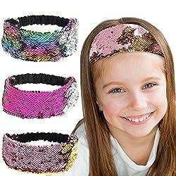 Reversible Sequin Headbands for Girls