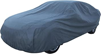 Leader Accessories Car Cover Basic Guard 3 Layer Dust UV Ray Resistant Universal Fit Outdoor Full Sedan Cover Up To 185