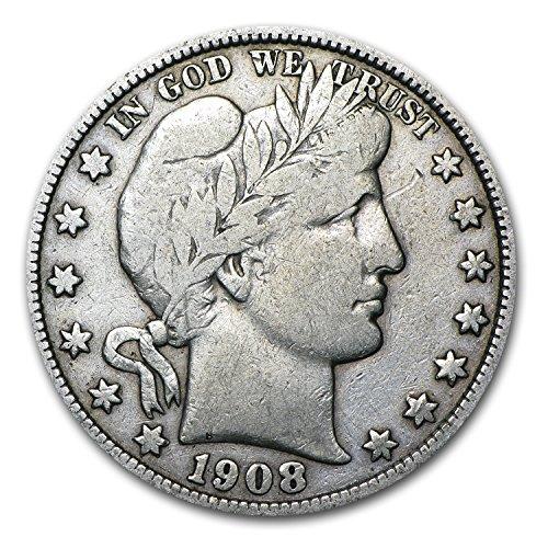1908 D Barber Half Dollar Fine Half Dollar Fine