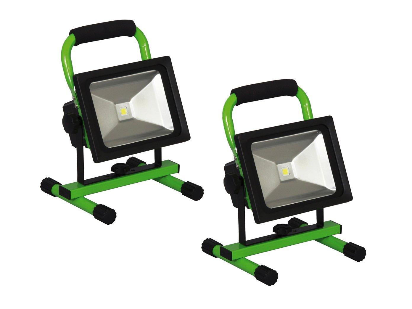 Set di Faretto LED faro faro da lavoro, portatile con batteria, 20W 1300lm Bianco freddo 20W 1300lm Bianco freddo Smartwares
