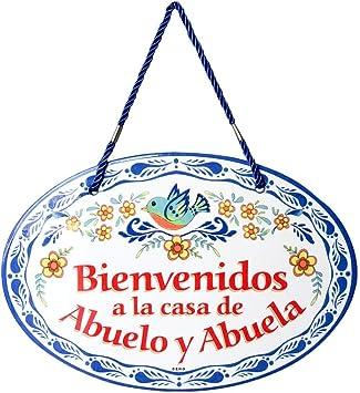 Amazon.com: Bienvenido casa Abuelo & Abuela decorativo ...