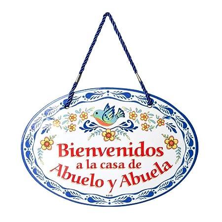 Bienvenido casa Abuelo & Abuela cartel decorativo para ...