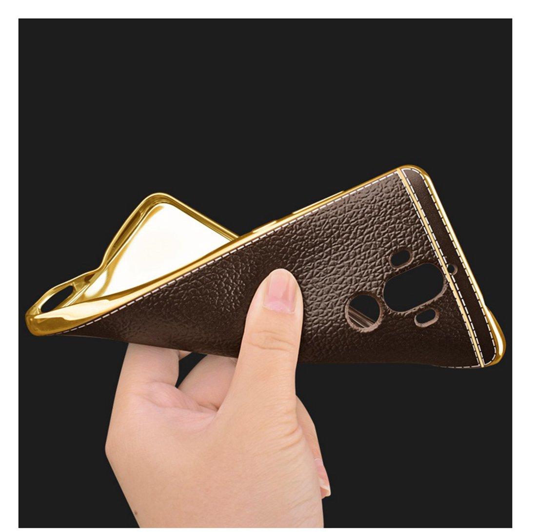Coque Huawei Mate 9,Coque de protection en cuir,Mince Lisse Protection Compl/ète,Coque de protection antid/érapante et anti-empreinte digitale pour Huawei Mate 9