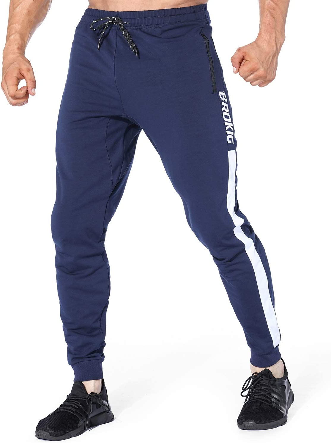 EK - Pantalones de Deporte para Hombre, con Cremallera: Amazon.es ...