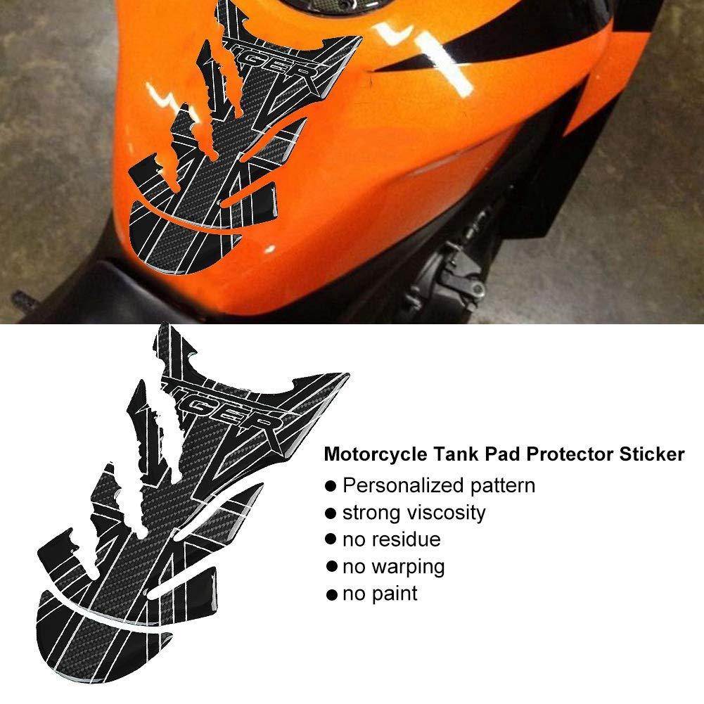 vera e propria in fibra di carbonio Moto Carburante serbatoio del gas pad Protector Sticker Decal Adesivo serbatoio