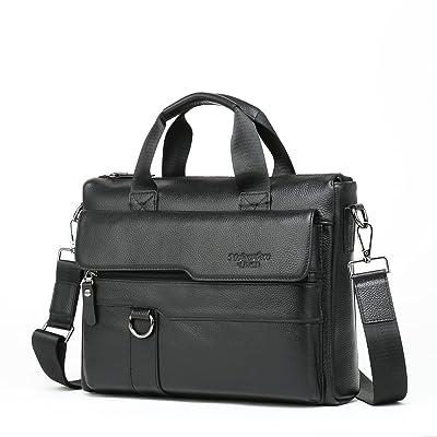 Meigardass Men's Genuine Leather Briefcase Laptop Handbag Messenger Business Bag durable service
