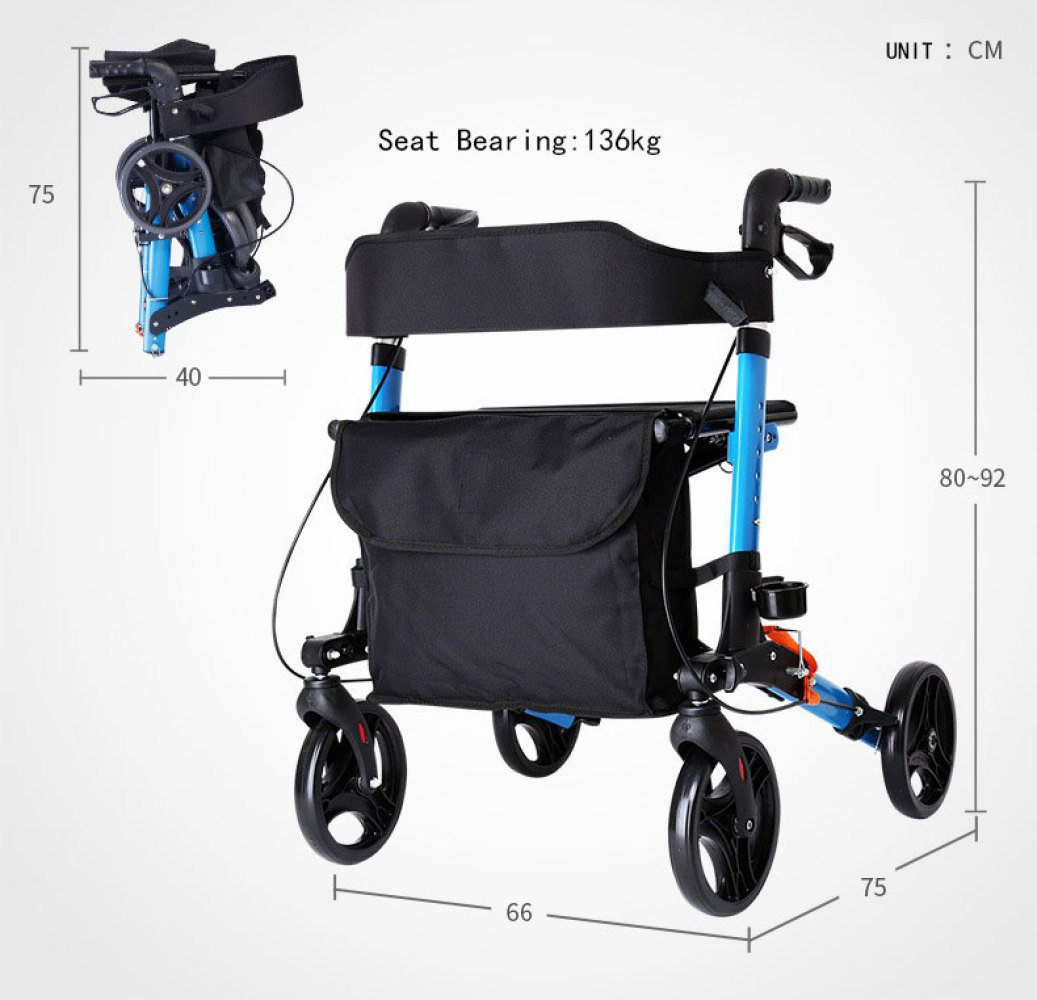 XINZ Andador Para Ancianos De 4 Ruedas | Aluminio Ultraligero ...