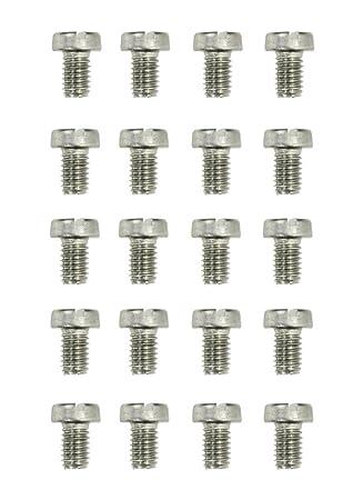 50* Edelstahl Gewinde-Schrauben M2 x  6 mm DIN 84  V2a Rostfreier Stahl
