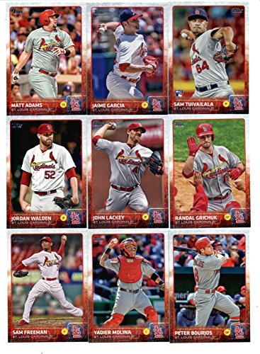 2015 Topps Baseball Cards St. Louis Cardinals Team Set (Series 1 & 2 - 22 Cards) Including Jon Jay, Michael Wacha, Adam Wainwright, Shelby Miller, Lance Lynn, Trevor Rosenthal, Jhonny Peralta, Matt Carpenter