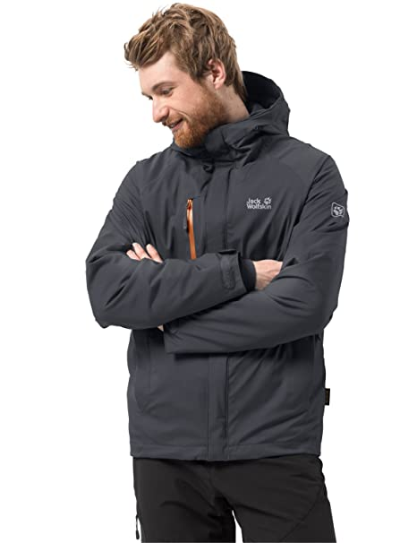 Jack Wolfskin Mens Troposphere Waterproof Hybrid Down-Fiber Insulated Jacket