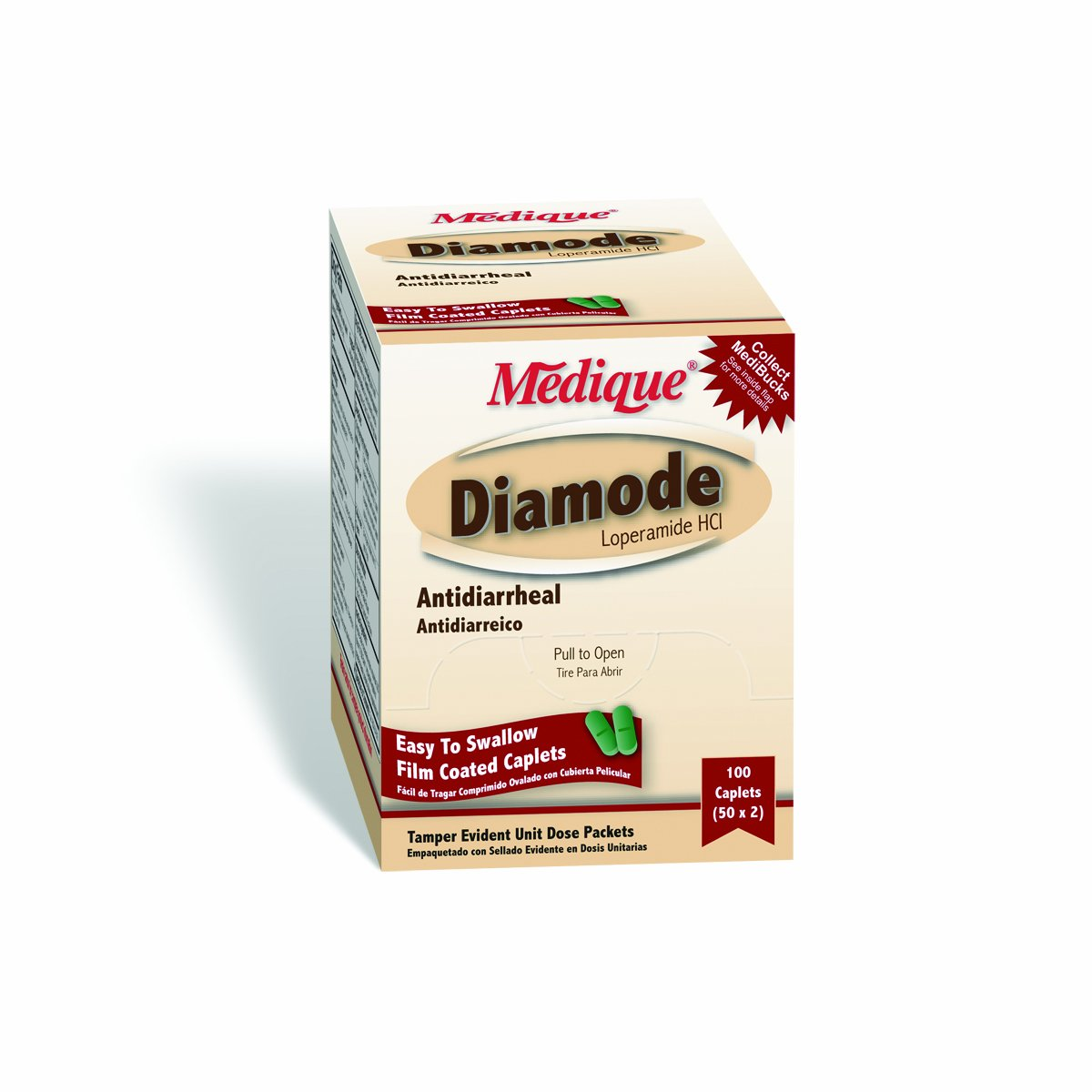 Medique Products 20033 Diamode, 100-Packets of 2 by Medique