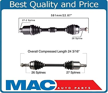 fits for 06-10 Mazda 3 2.0L Only W// Automatic Trans New P//S CV Drive Axle Shaft