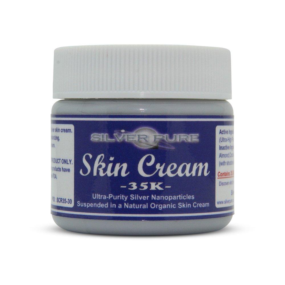 Nano Silver Skin Cream 35,000 ppm - 1 Ounce Jar - Our Best