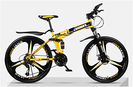 KXDLR Bicicleta Plegable De 27 Montaña De La Velocidad De La Bici ...