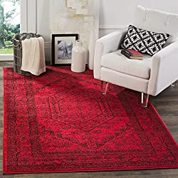 Safavieh Adirondack Collection ADR108F Red and Black Oriental Vintage Medallion Area Rug (8' x 10')