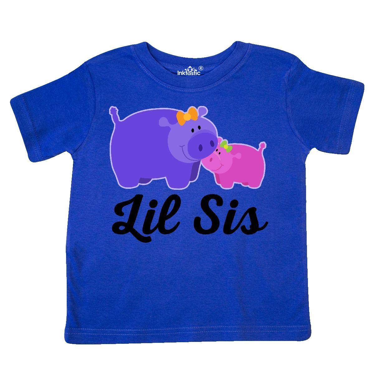inktastic Lil Sis Cute Hippo Toddler T-Shirt