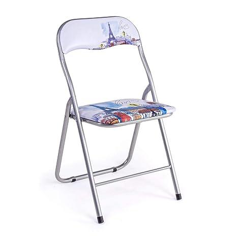 ARREDinITALY Juego de 6 sillas Plegables París: Amazon.es: Hogar