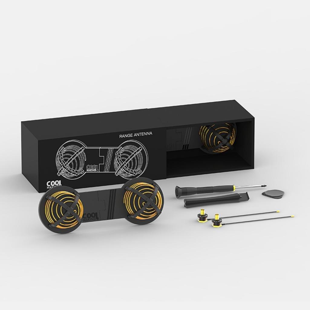 Digood 2.4G 5.8G DIY Signal Booster High Gain 16DBI Refitting Antenna for DJI Mavic Pro (Black)