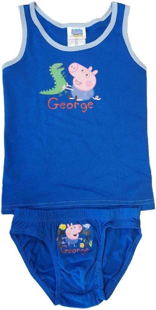 7//8 years George Peppa Pig boys underwear set vest and briefs white