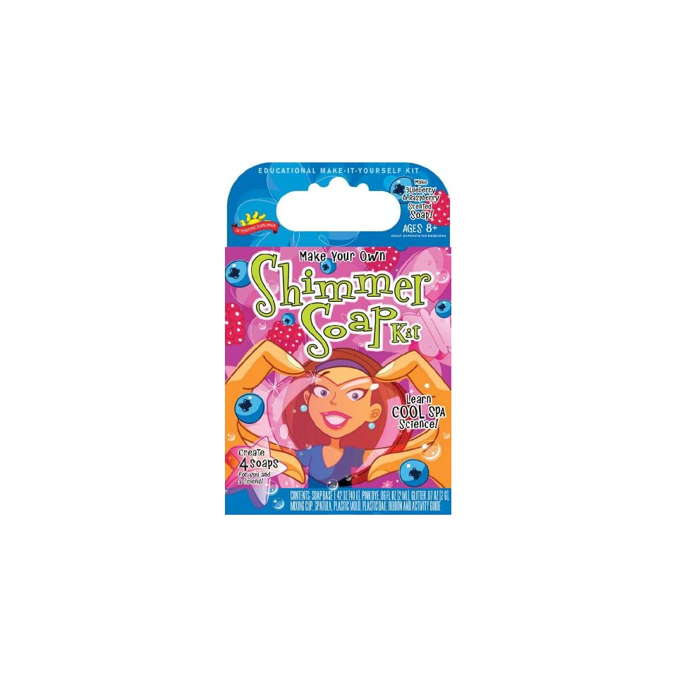 POOF Slinky 0SA264 Scientific Explorer Make Your Own Shimmer Soap Kit, create 4 soaps Toys & Games