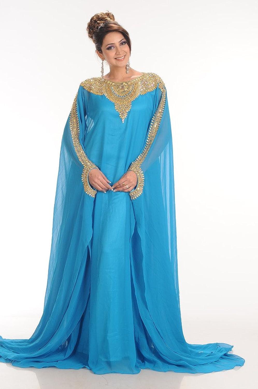Amazon.com: Maxim Creation Women\'s Royal Farasha Kaftan Abaya Jilbab ...