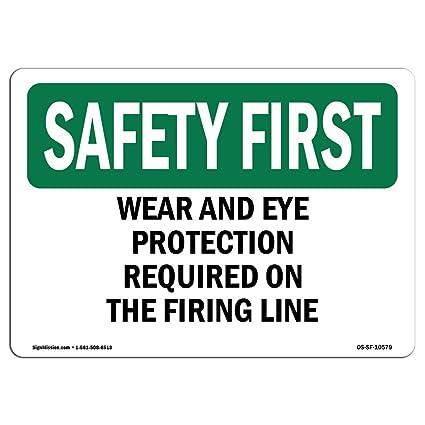 Letrero de seguridad de Osha - Requiere protección para los ...
