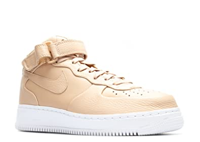 best service 6c0a4 40f30 Nike NikeLab Air Force 1 Mid, Chaussures de Sport - Basketball Homme,  Marron Vachette