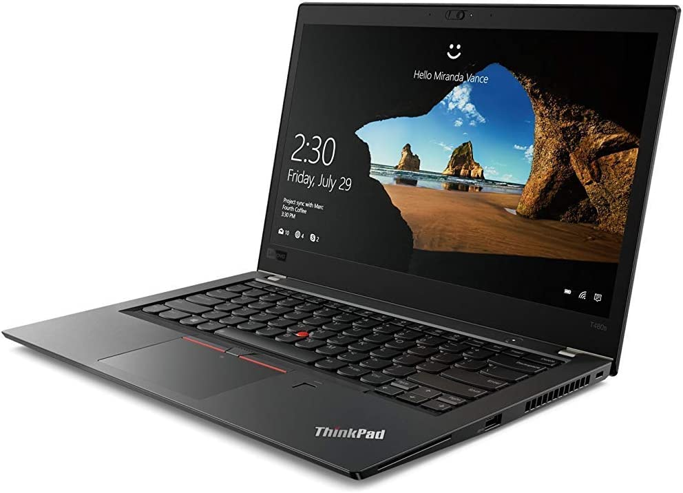 "OEM Lenovo ThinkPad T480s Laptop 14"" FHD IPS Display 1920x1080, Intel Quad Core i7-8650U, 24GB RAM, 512GB NVMe, Fingerprint, W10P"