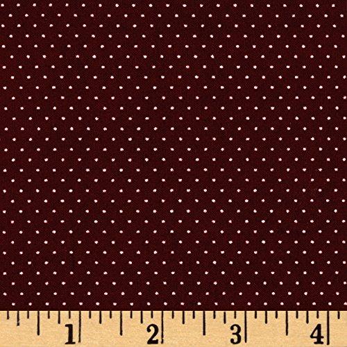 Apparel Ecru (TELIO Colorado Poly Faille Print Dot Bordeaux Ecru Fabric by The Yard)