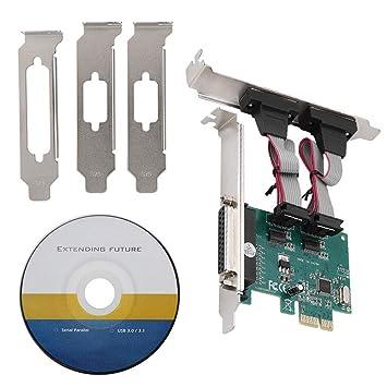 ASHATA ST36 PCI-E Tarjeta Combinada, PCI-E a 2 Puertos Serie +1 ...