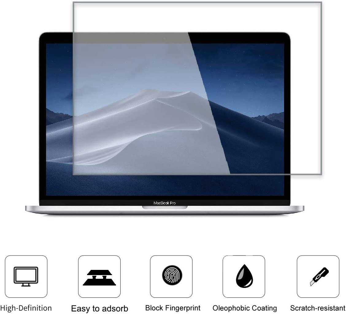Tempered Glass Screen Protector For New MacBook Pro 13 2020-2016 Model A2289 A2251 A2159 A1706 A1708 |MacBook Air 13 2020 2019 2018 Model A2179 A1932 Glass Screen Protector [No Waves] [No Bubble] [Reduce Fingerprint] [Anti Scratch] [0.15mm]