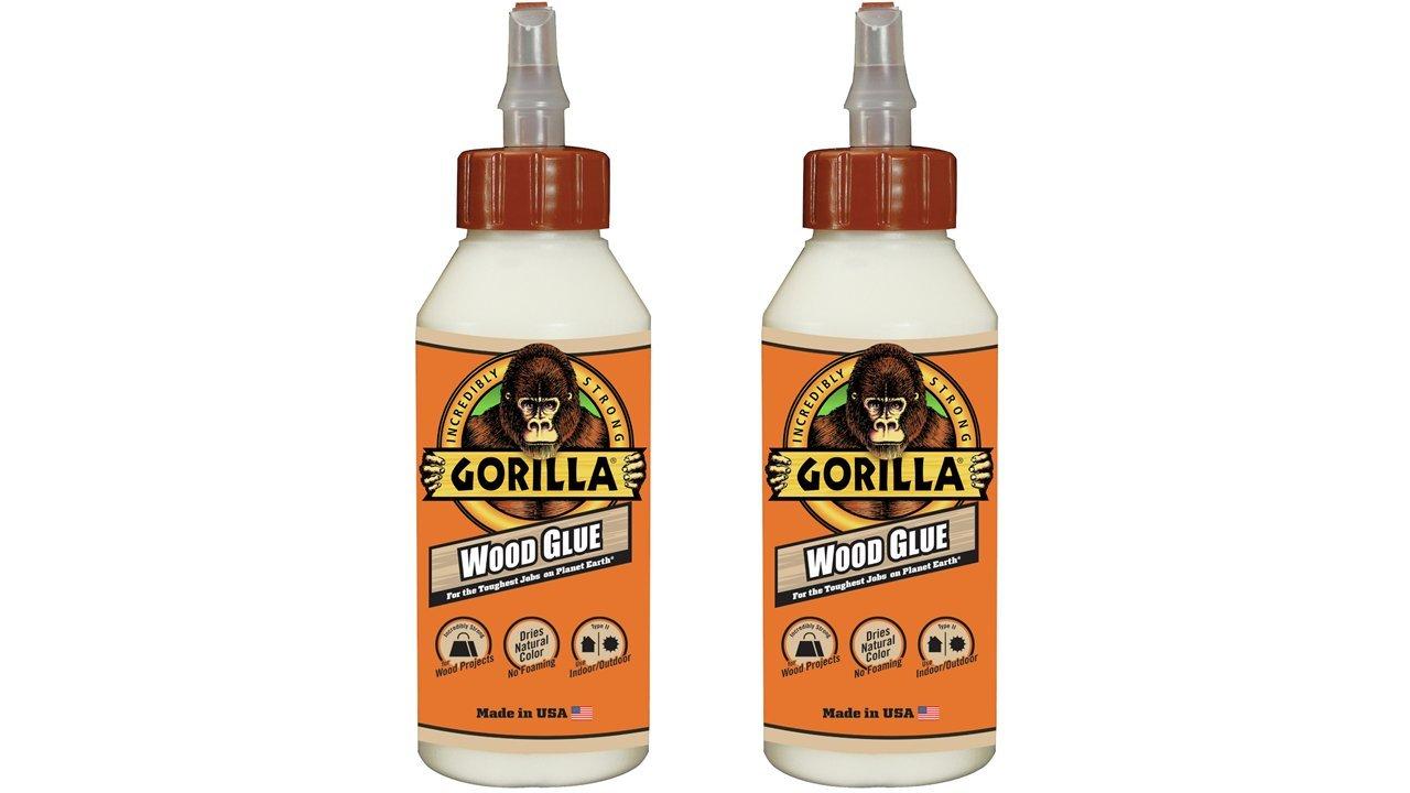 Gorilla 6200013 Wood Glue (2 Pack), 8 oz