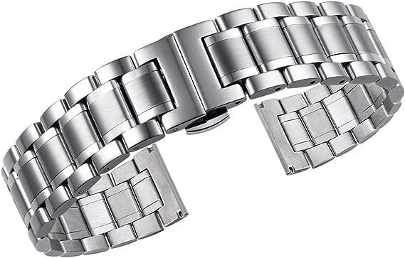 Amazon.com: Correas de reloj de metal de lujo de acero ...