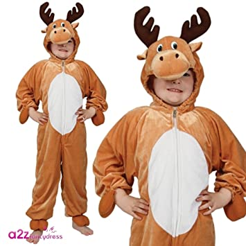 Baby Boys Girls Rudolph Reindeer Christmas Xmas Fancy Dress Costume Outfit