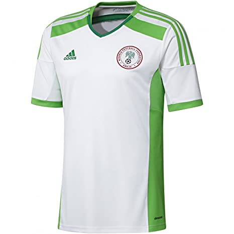 new style 25f73 2091d adidas 2014-15 Nigeria Away World Cup Football Soccer T-Shirt Jersey