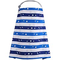 Breastfeeding Cover Boned Neckline Nursing Cover Apron Allows Mom Keep Eye Contact Adjustable Straps & Breathable Cover…
